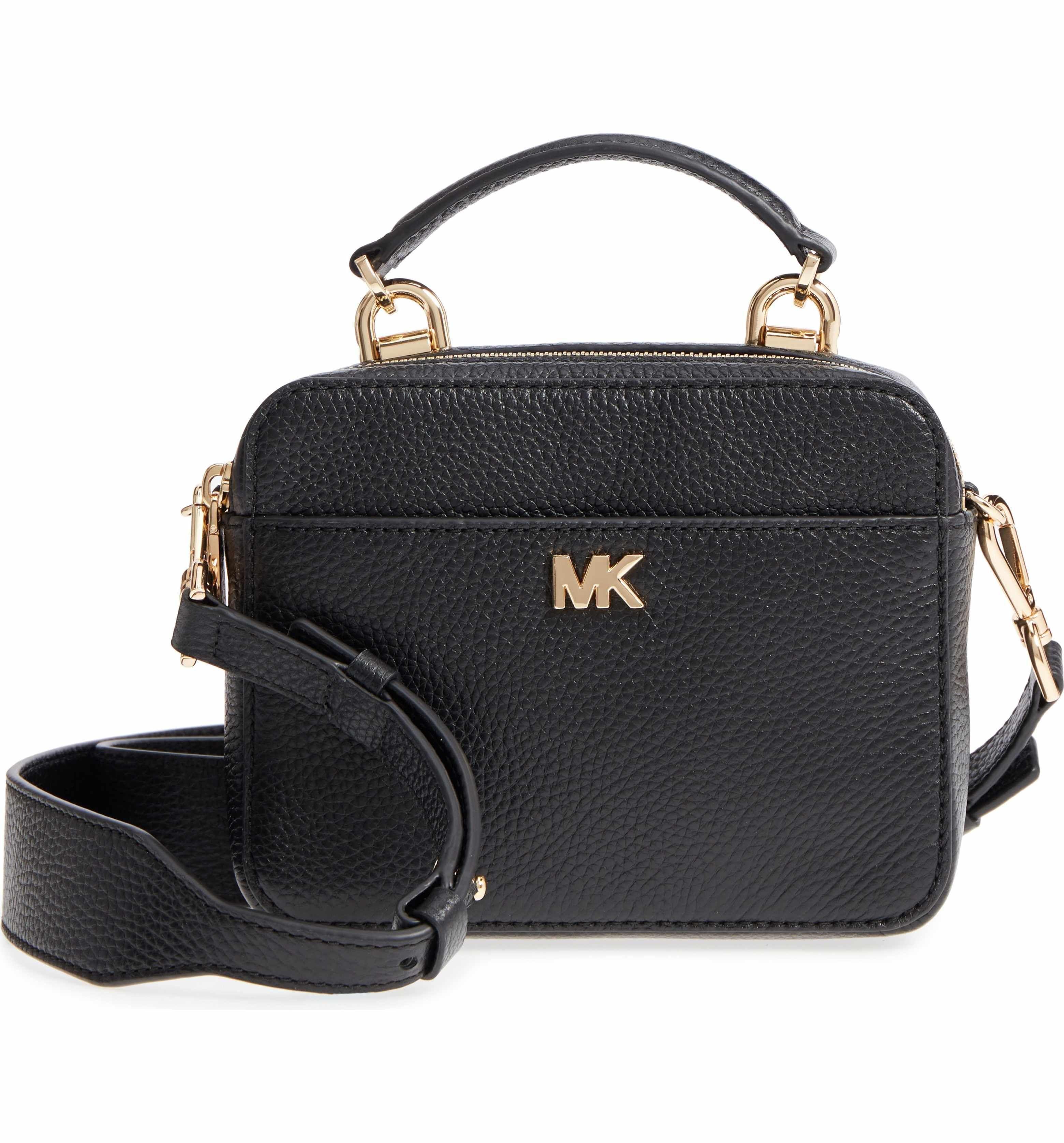 Michael Michael Kors Mott Pebbled Leather Crossbody Bg Leather Crossbody Leather Pebbled Leather