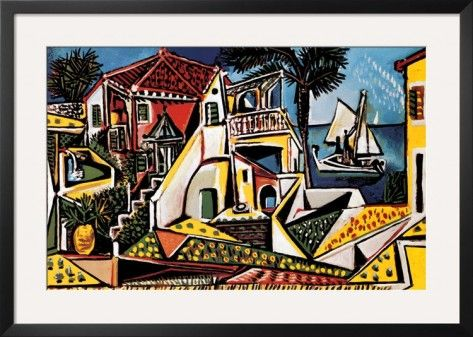 Mediterranean Landscape Print by Pablo Picasso at AllPosters.com