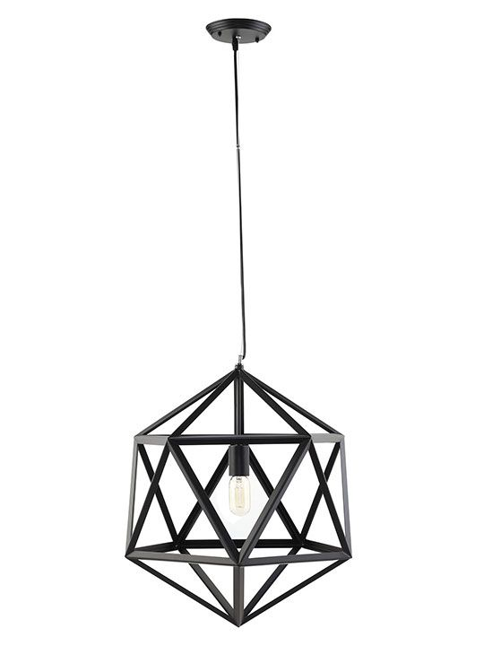 Hexagon Black Metal Chandelier Modern Furniture Brickell Collection Metal Chandelier Modern Chandelier Chandelier