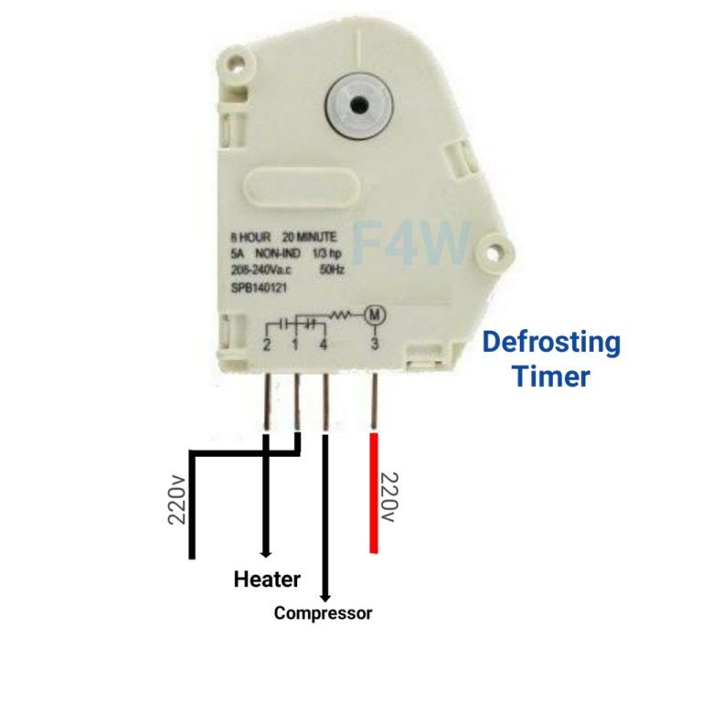 No Frost Refrigerator D Frosting Timer Function And Connection Fully4world Refrigeration And Air Conditioning Timer Home Electrical Wiring