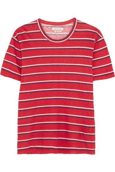 ETOILE ISABEL MARANT Ken striped linen T-shirt. #etoileisabelmarant #cloth #tops