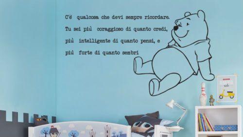 Stickers Cameretta Disney : Wall stickers frasi adesivi murali winnie the pooh bambini walt