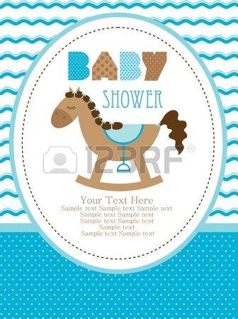 Diseño De La Ducha Del Bebé Caballo Lindo Juguete Ilustración Vectorial Baby Shower Invitaciones Invitaciones Para Baby Adornos Para Baby Shower