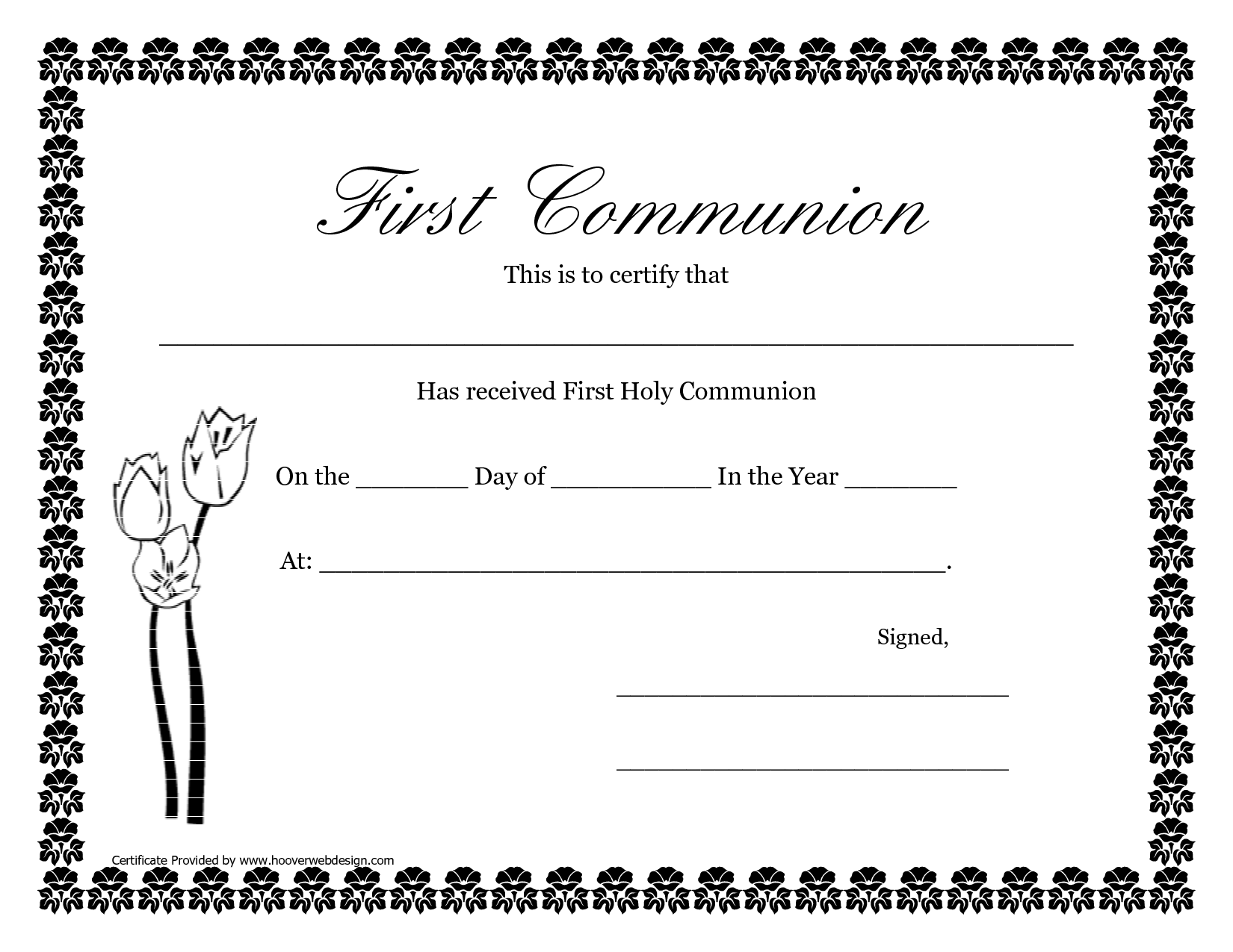 First Communion Banner Templates | Printable First Communion ...