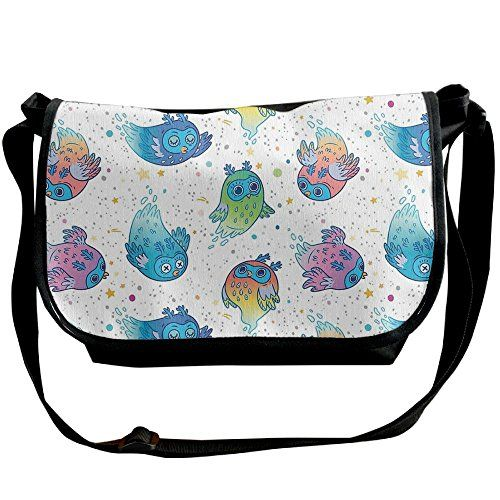 a1ed5fa3394a Boruifushi Cute Drowse Owls Crossbody Bag Mens One Shoulder Bag ...