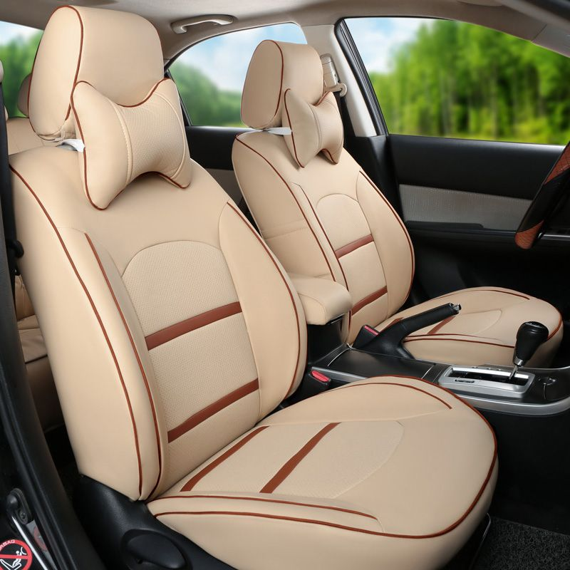 PU Leather Cover Seat Car For Mitsubishi Pajero Sport Accessories Custom Cushion Covers Seats Support