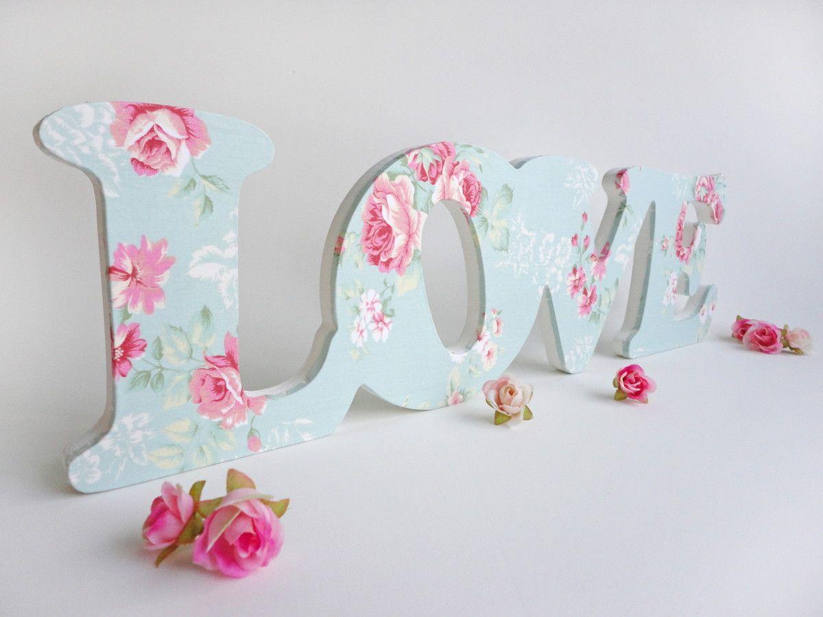 letras decorativas g love romantico - Letras Decorativas
