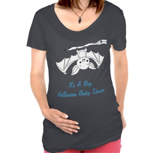 It's A A Boy Little Bat Halloween Baby Shower Maternity T-Shirts
