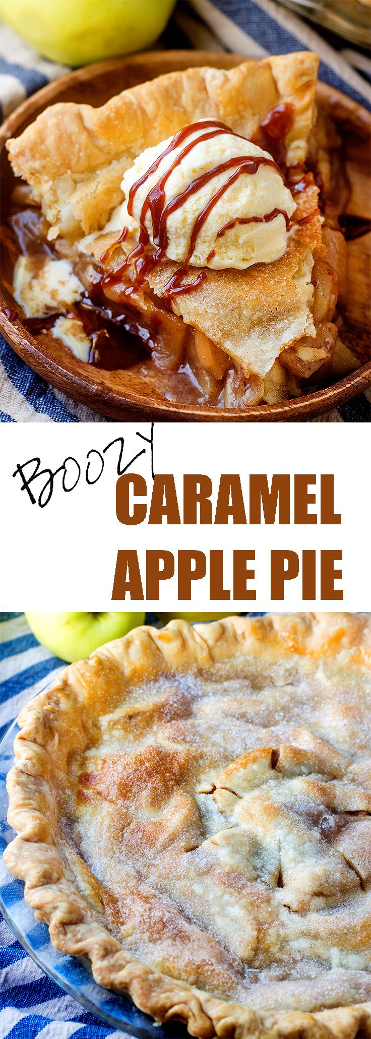 This is NOT your grandma's caramel apple pie! (Well, unless your grandma was a lush like mine...) #iambaker #applepie #caramelapple #applepie
