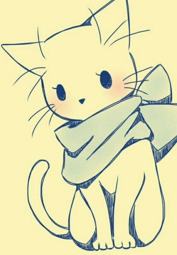Gato Kawaii Cosas Lindas Para Dibujar Arte Lindo Dibujos Kawaii