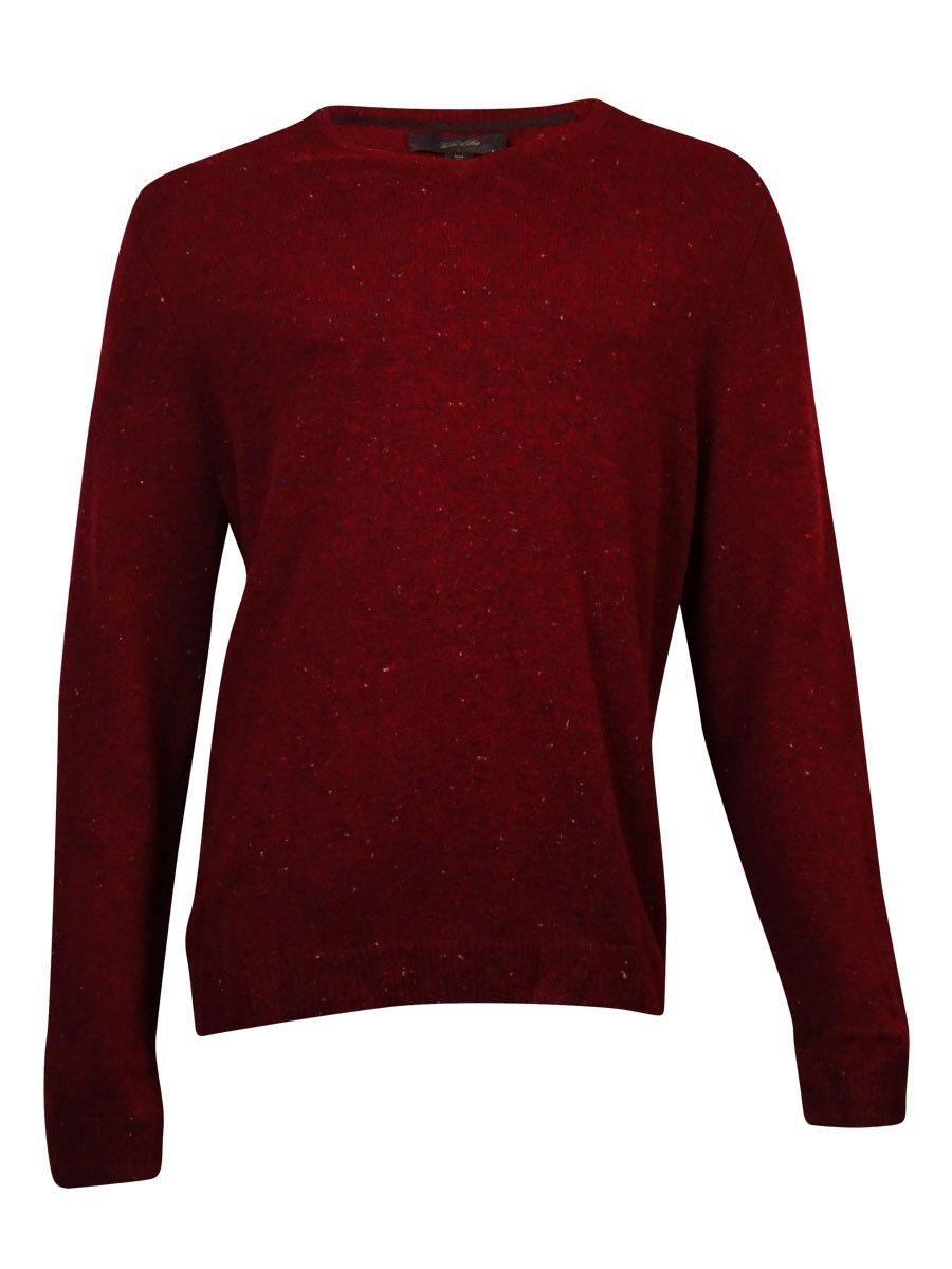 Tasso Elba Men's V-Neck Marled Sweater (XXL, Cherry) | Elba and ...