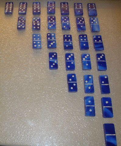 Glass Domino Double Six Set Each, Glass Domino Set