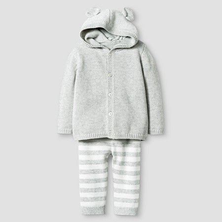 d231a432b Baby Organic Sweater Hoodie with Ears and Pant Set Baby Cat & Jack ...