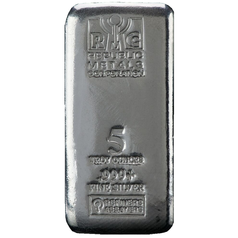 Rmc 5oz Cast Silver Bar Silver Bars Silver Bullion Silver