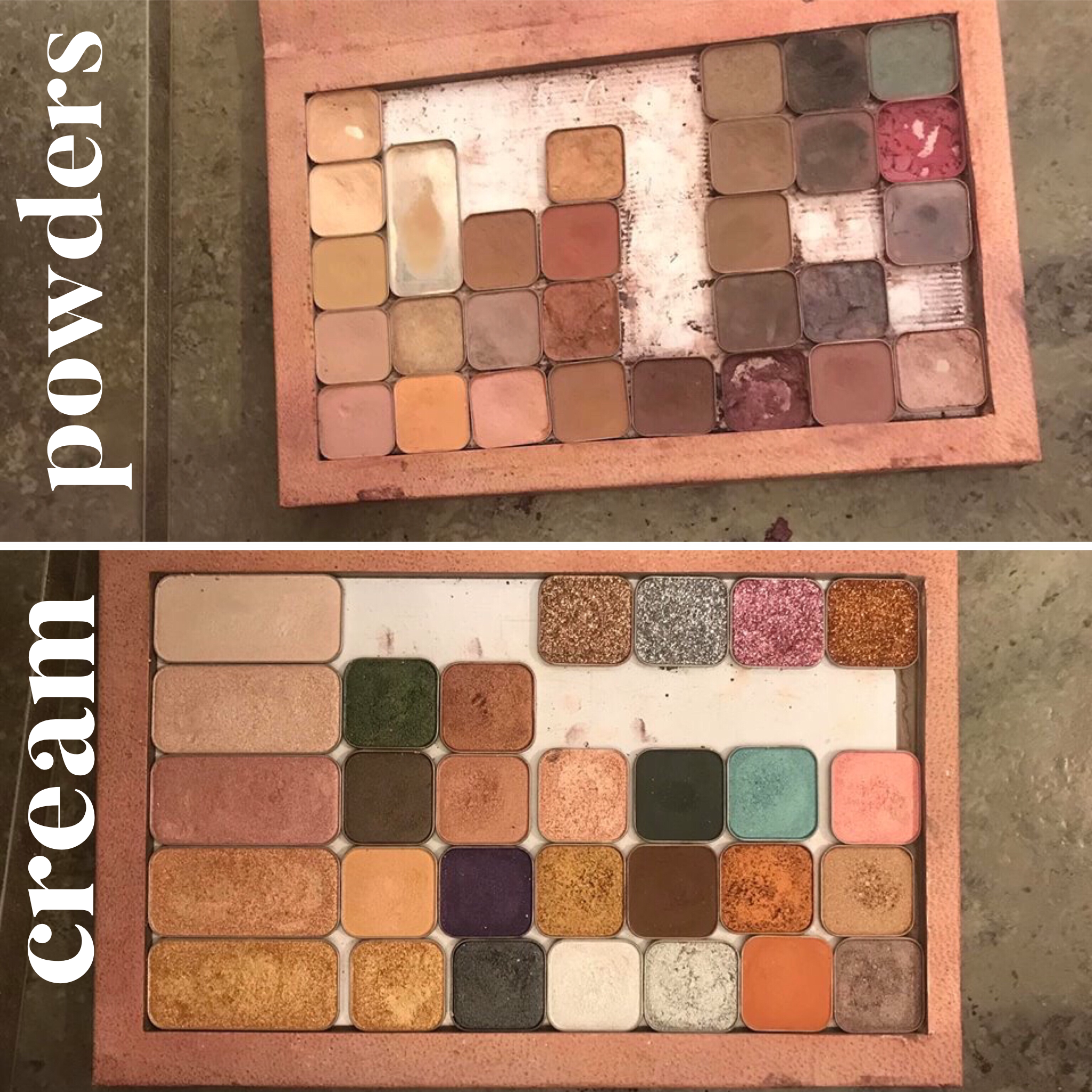 A fellow artist dropped her eyeshadow palette on accident