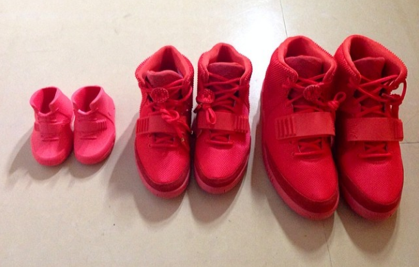 Kim Kardashian Posts Family Photo Of 'Red October' Nike Air Yeezy 2 | Sole