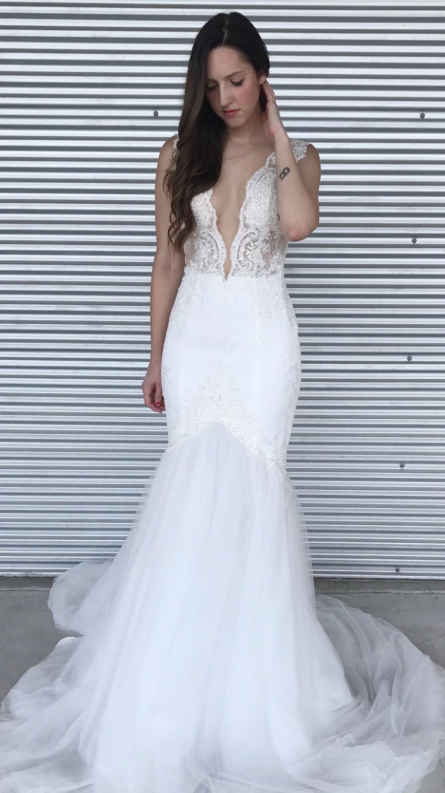 Unique Plunging Neckline Wedding Dress. 2018 Top Wedding Dresses ...