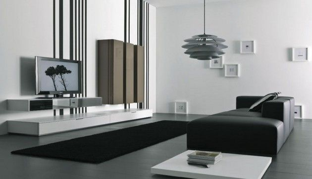 20 Wonderful Black And White Contemporary Living Room Designs Minimalist Living Room Furniture Room Furniture Design Contemporary Living Room Design