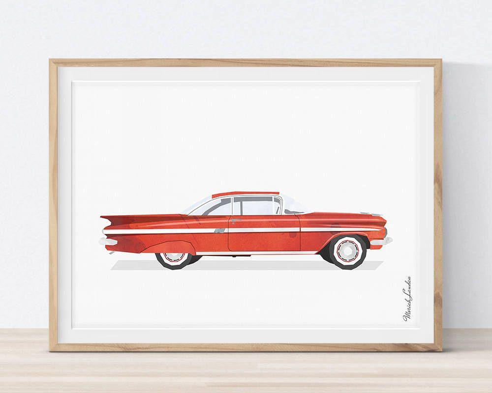 Car wall art transportation wall decor printable car classic car