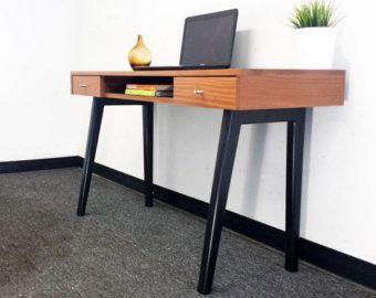Mid Century Modern Desk Danish Modern Executive By VintaDelphia - Contemporary writing desk furniture