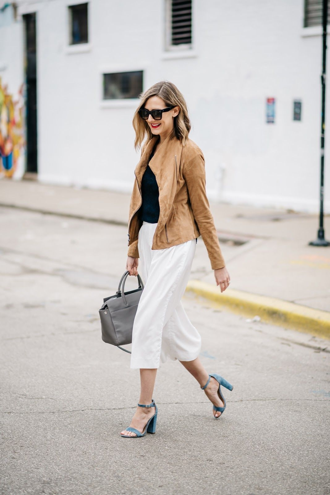 Embrace Culottes (See Jane Wear) - See (Anna) Jane. Brown Leather  JacketsShoes High HeelsLeather CulottesSteve MaddenFall ...