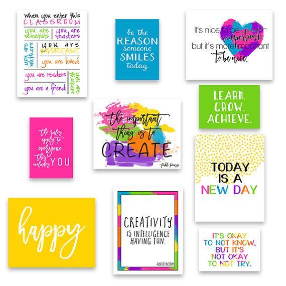 Set of 20 Classroom Art, Classroom Decor, Kid\'s Wall Art ...