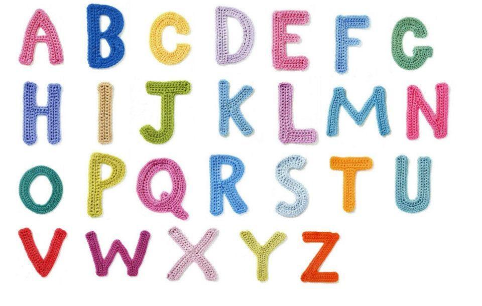 Alfabeto de ganchillo (patrones en el link) | proyectos crochet ...