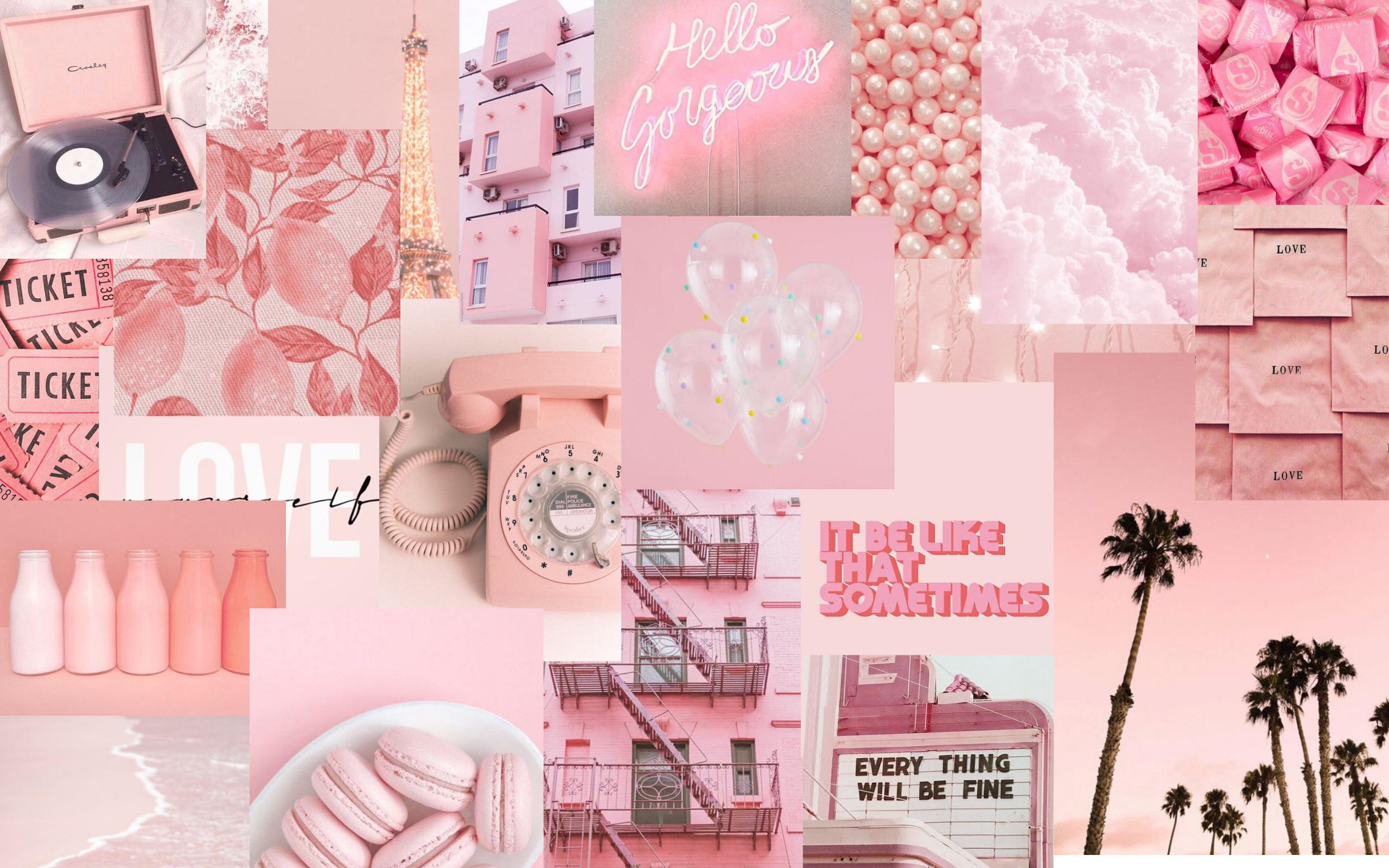Light Pink Cute Desktop Wallpaper Aesthetic Desktop Wallpaper Macbook Wallpaper