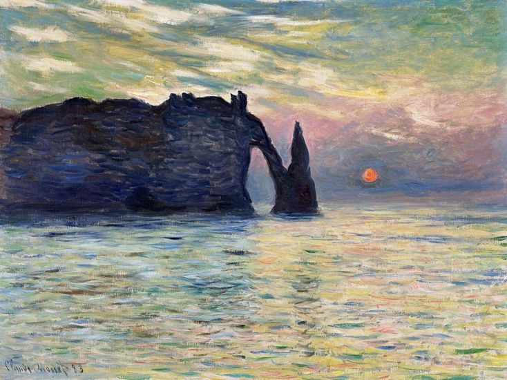 Monet\u0027s striking cliff by the sea beckons \u0027celestial sleuths