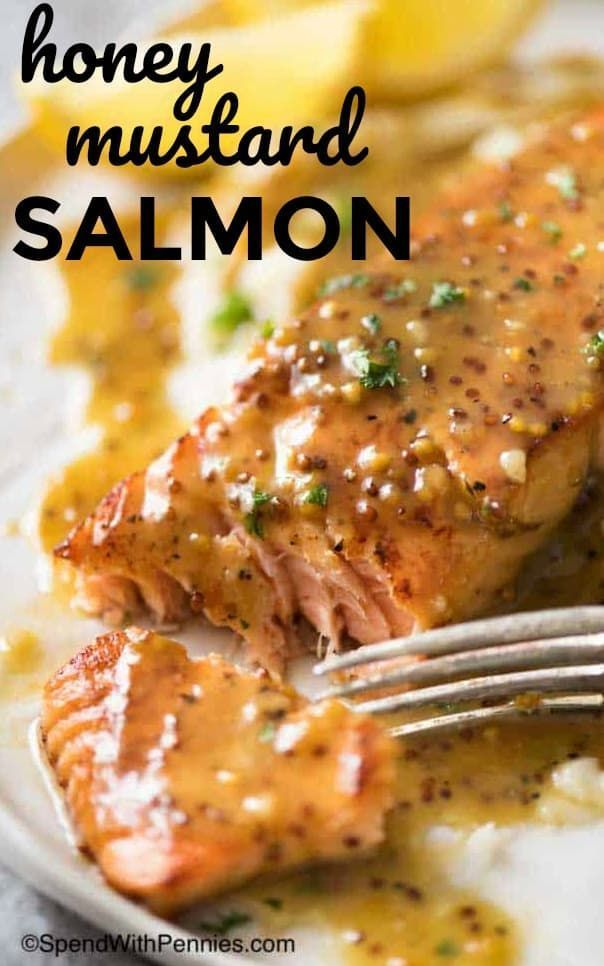 Honey Mustard Salmon - Spend With Pennies