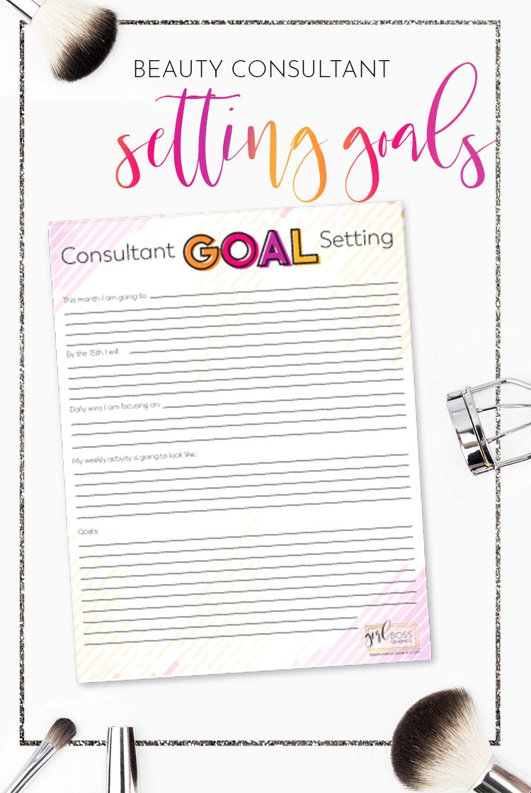 goal setting for mary kay consultants printable consultant goal