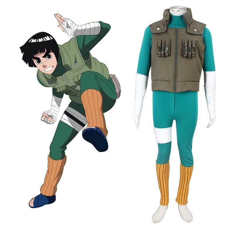 Naruto Anime Cosplay Costumens Rock Lee Cosplay Costume 2nd Halloween New