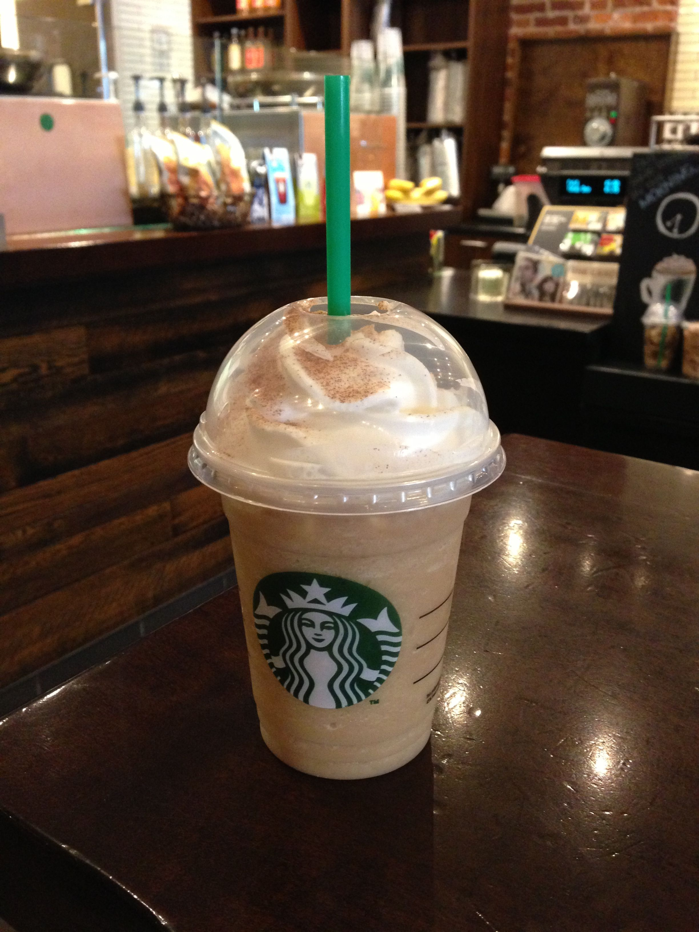 Snickerdoodle frozen coffee #starbucks