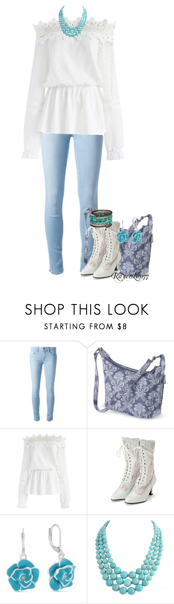 """""""Jeans and Romantic Blouse"""" by ravenlancaster ❤ liked on Polyvore featuring Genetic Denim, Chicwish, Gloria Vanderbilt, romantic, springtime and Spring2017"""