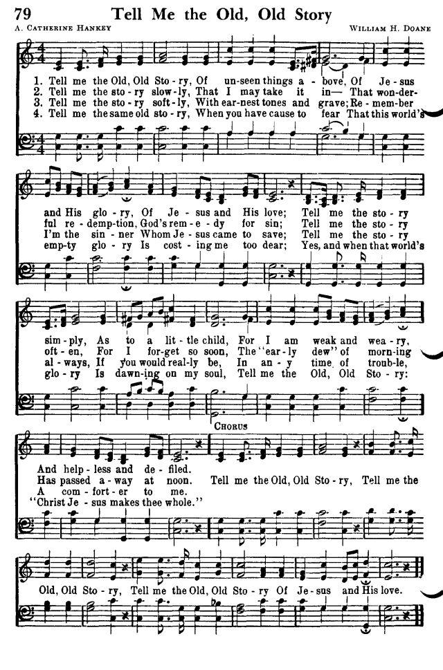 Lyric go tell it on the mountain hymn lyrics : Hymn Tell Me the Old Old Story | Baptist Stuff | Pinterest | Songs ...