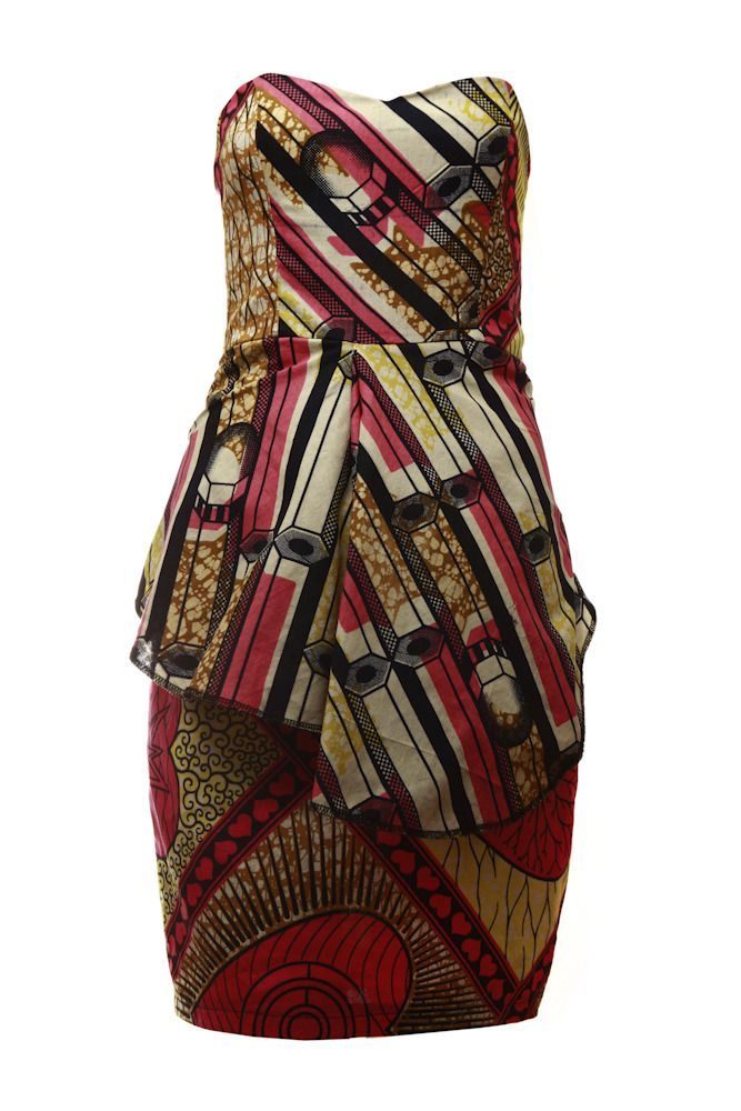 6e7688f2584 Jemima-African print boob tube dress.Mix print two tier African print boob  tube
