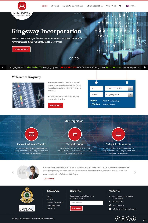 38 Upmarket Web Designs Financial Service Web Design Project For Oriental Occidental S L Business Card Design Inspiration Modern Web Design Website Design