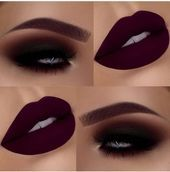 Photo of 14 Beautiful Lips And Eyes Makeup Ideas To Try – The Glossychic       This image…