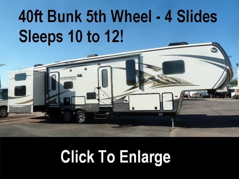2015 Keystone Montana Mountaineer 350qbq Bunks Sleeps 12 For