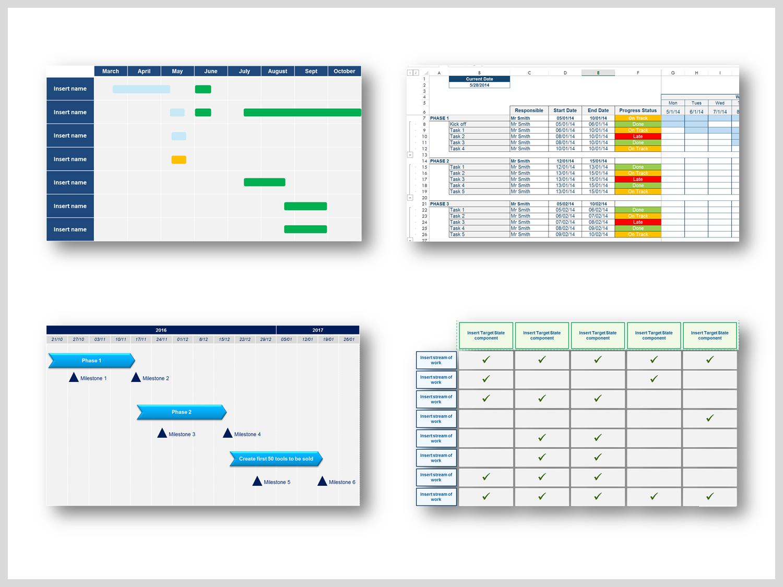 Project Plan Business Roadmap Timeline Templates Programmazione