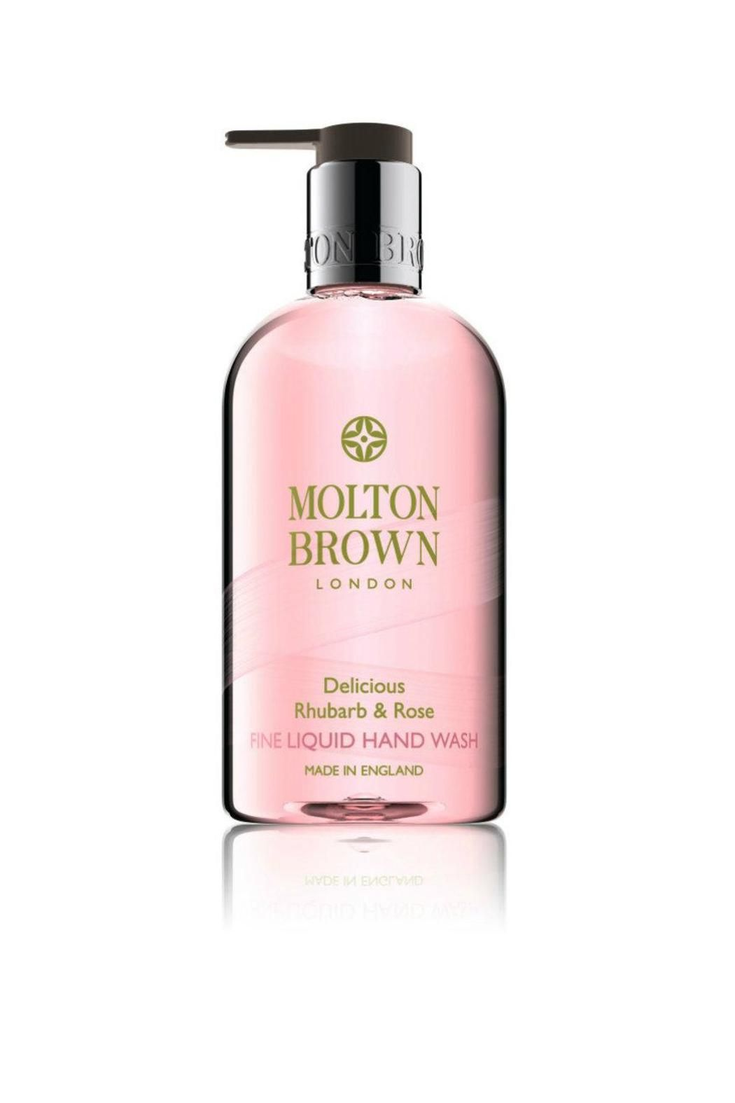 A sweet, moisturizing hand wash blended with rose extract and yuzu fruit accord. The fragrance Top note: tart rhubarb Heart note: gentle rose Base note: comforting musk.   Rhubarb & Rose Hand Wash by Molton Brown. Home & Gifts - Gifts - Scents & Bath Rhode Island