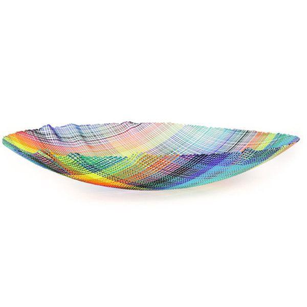 Decorative Colored Glass Bowls Klaar Prims 8Ung Multicolor Glass Bowl $2595 ❤ Liked On