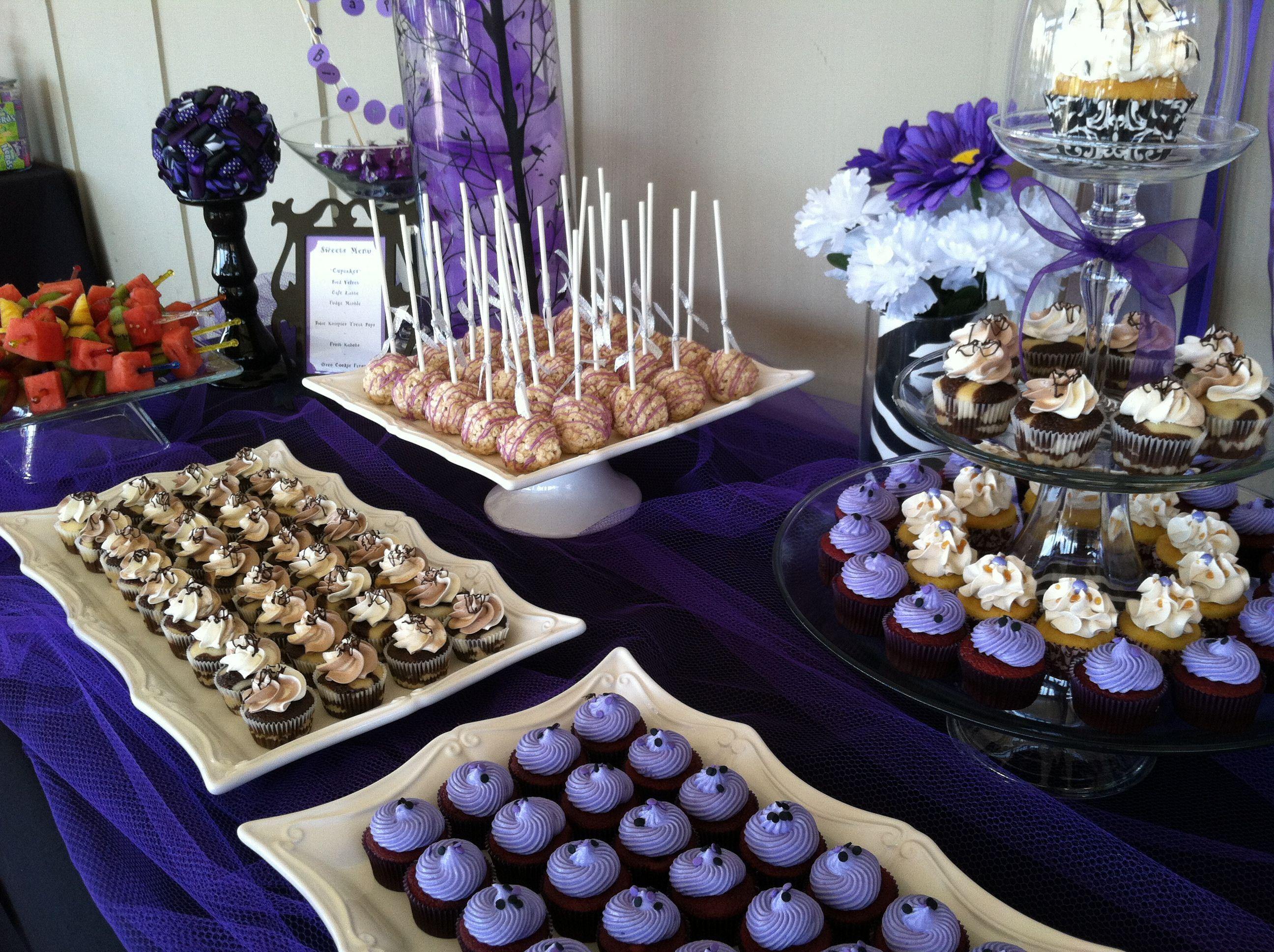 Purple And Zebra Birthday Party Dessert Table Dessert Table