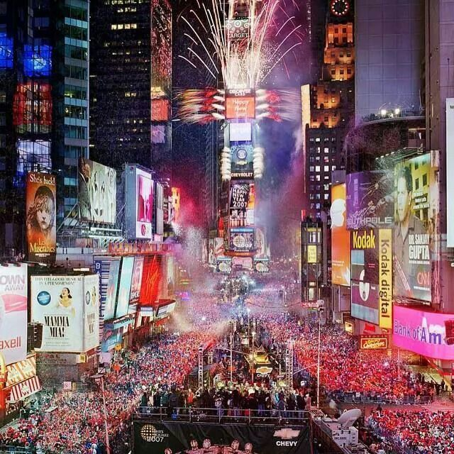 usa fter la nouvelle anne sur times square happy new year