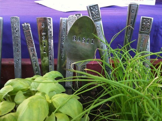 Image detail for -... made recyled cutlery Herb Garden Markers (custom orders available
