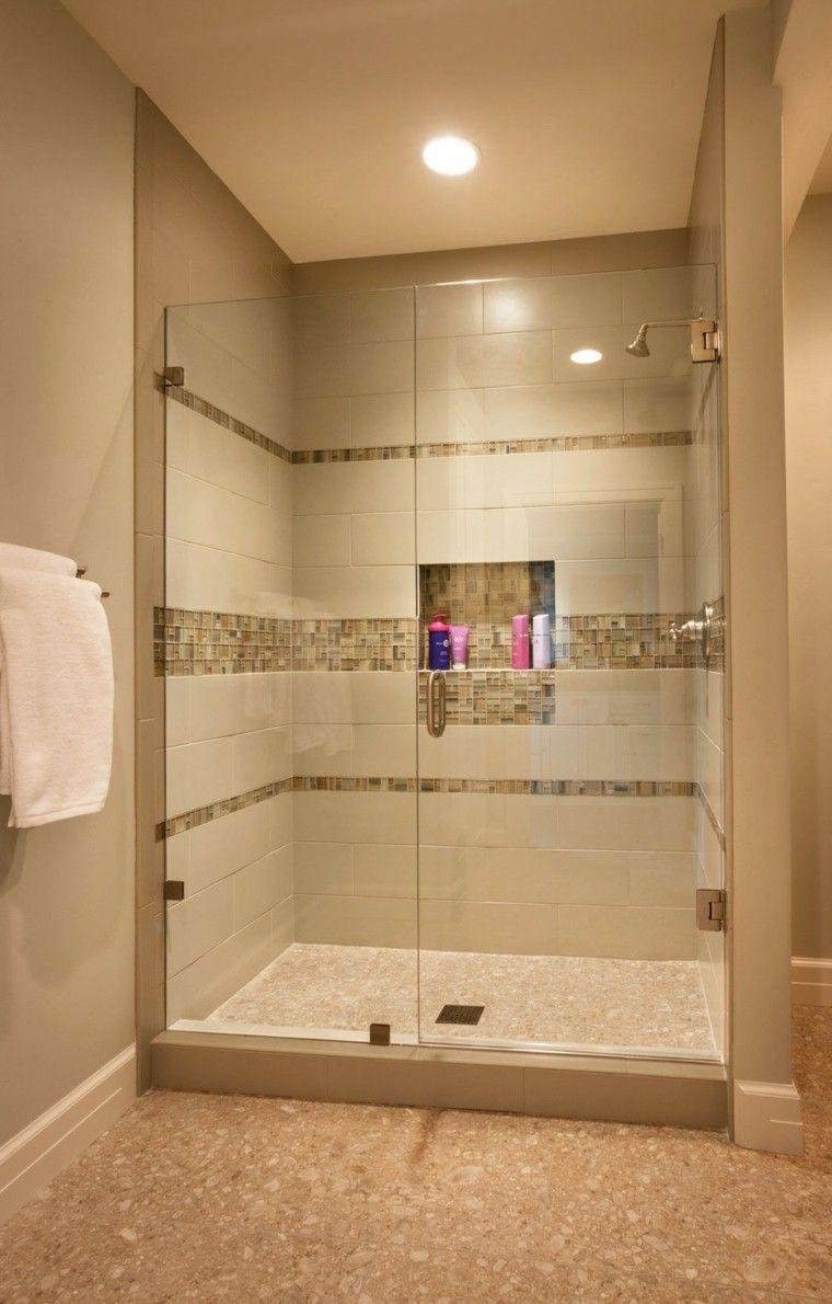 Ba os modernos con ducha 50 dise os impresionantes for Diseno de banos con guardas verticales