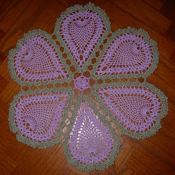 Free Crochet Doily Patterns Free Pineapple Blossoms Doily Pattern