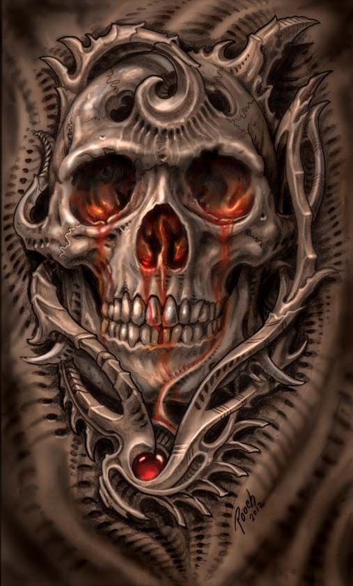 ✯ Biomech Bloodskull :: Artist Mike Pucciarelli ✯: