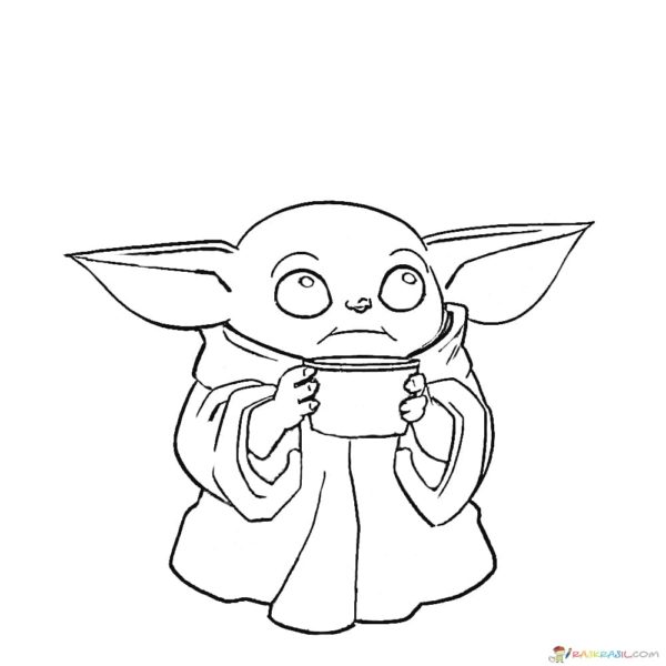 Baby Yoda Coloring Page 50 Best Pictures Free Printable In 2021 Coloring Pages Unique Coloring Pages Free Coloring