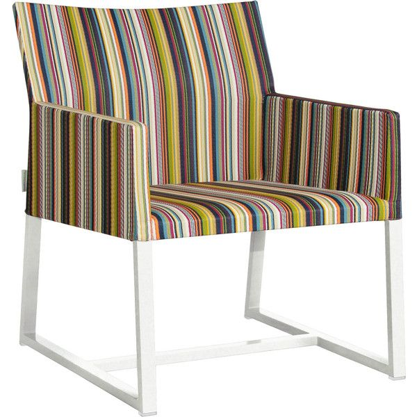 Mamagreen Stripe Casual Lounge Chair   Vertical Stripes / White Sand...  ($746
